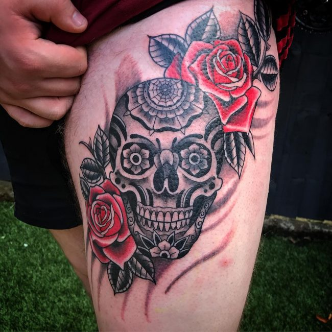 Sugar Skull Tattoo 108