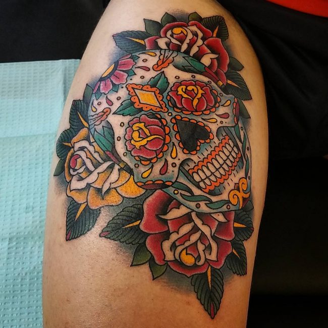 Sugar Skull Tattoo 110