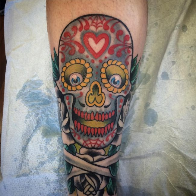 Sugar Skull Tattoo 114