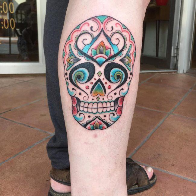 Sugar Skull Tattoo 115