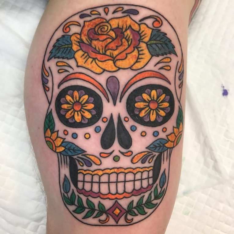 Sugar Skull Tattoo 122