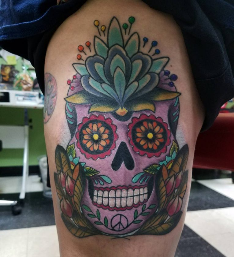 Sugar Skull Tattoo 124
