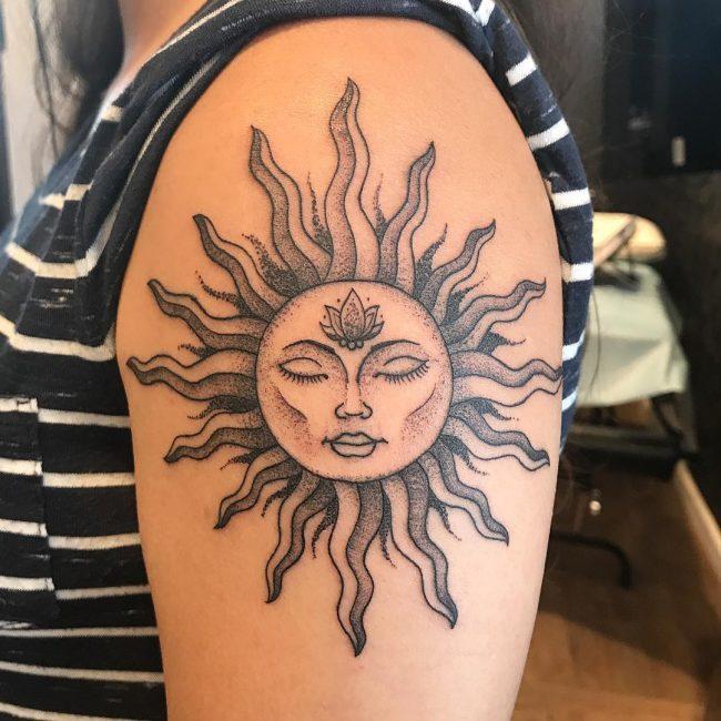 Sun Tattoo 85