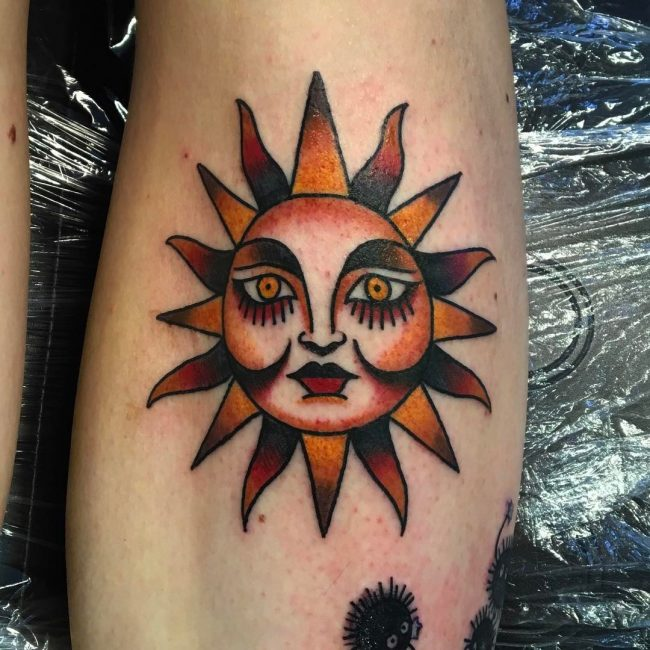 95 Best Sun Tattoo Designs Meanings Symbol Of The Universe 2019