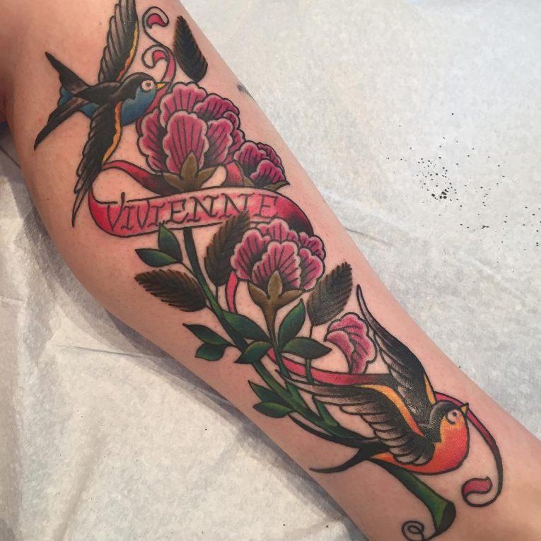 Swallow Bird Tattoo 80