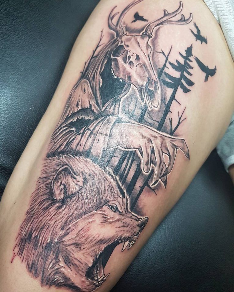 Thigh Tattoo 107