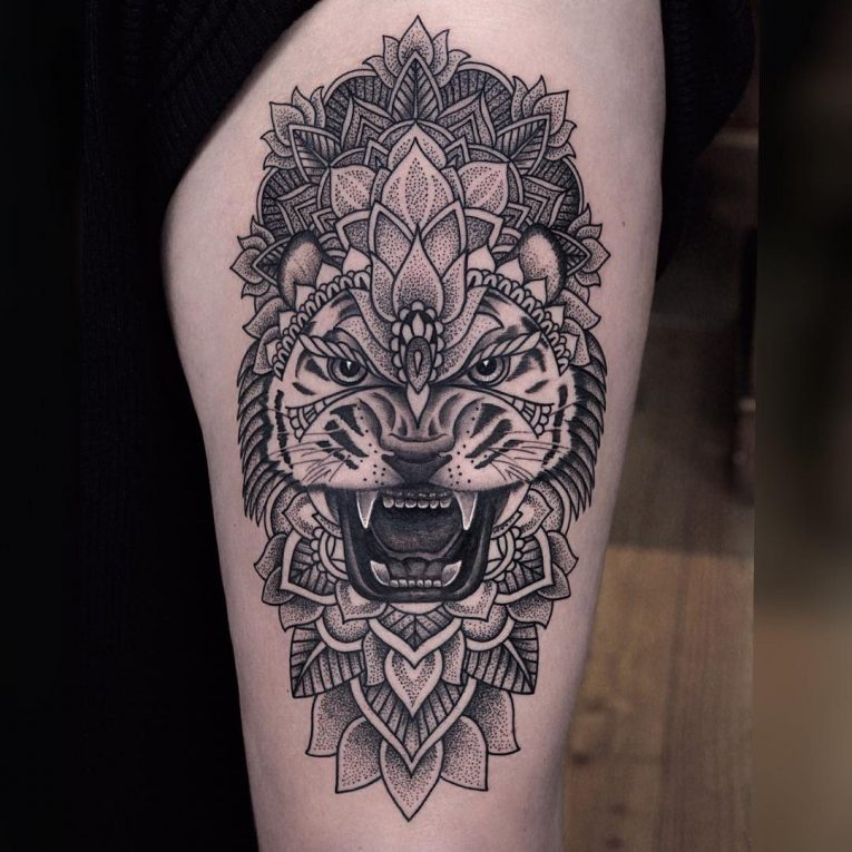 Thigh Tattoo 109