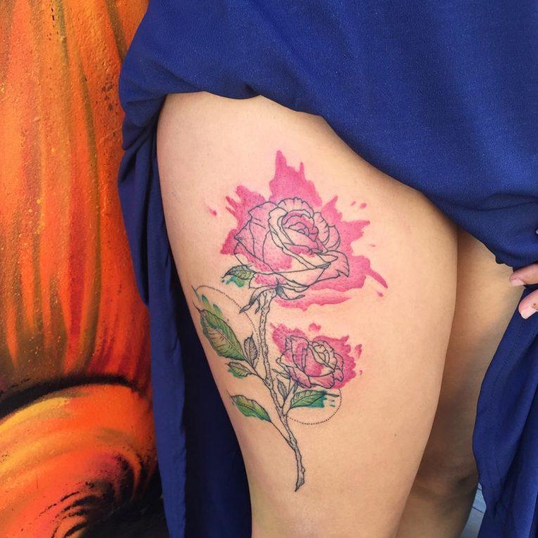 Thigh Tattoo 112