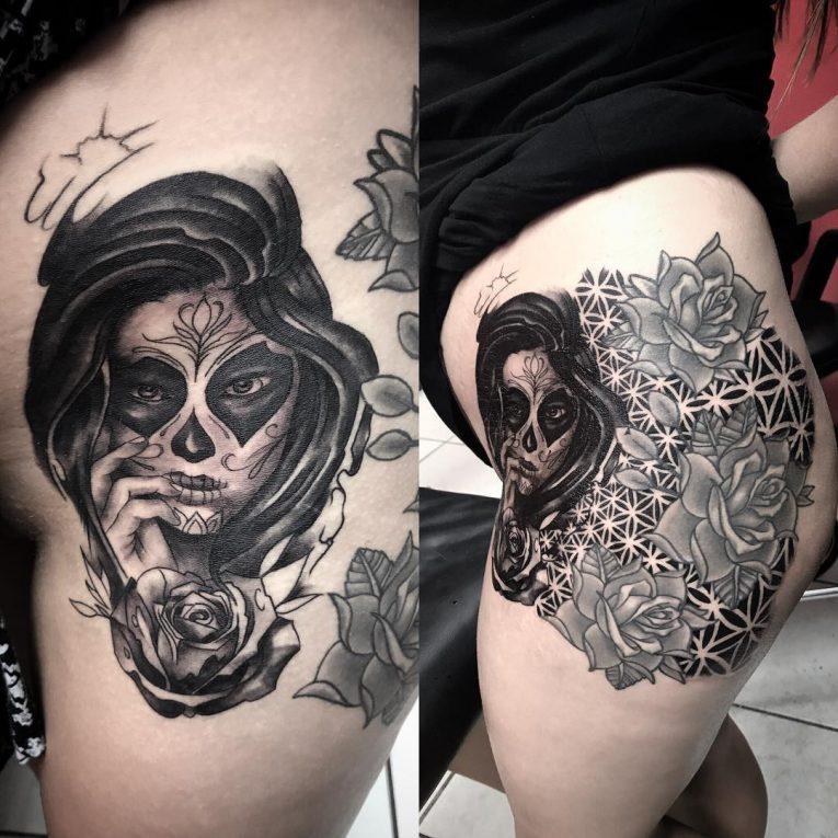 Thigh Tattoo 115