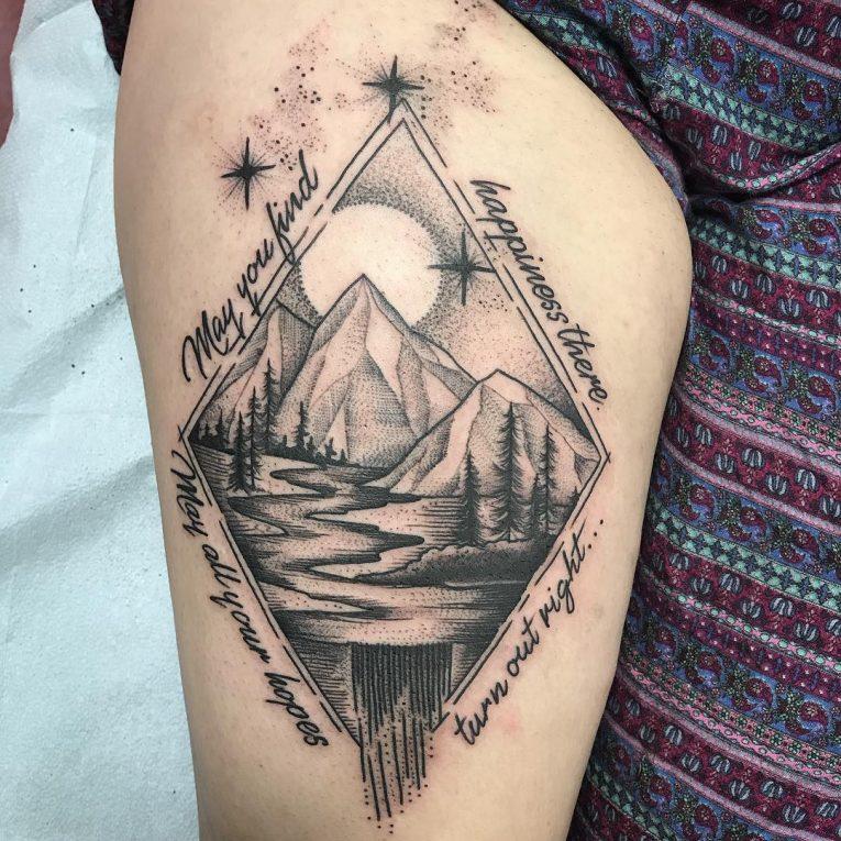 Thigh Tattoo 117