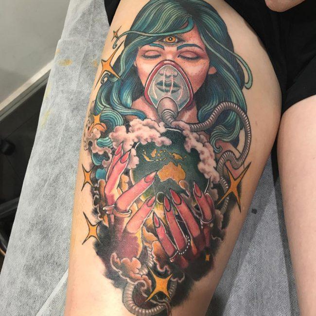 Thigh Tattoo 97