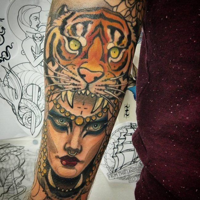 Tiger Tattoo 100