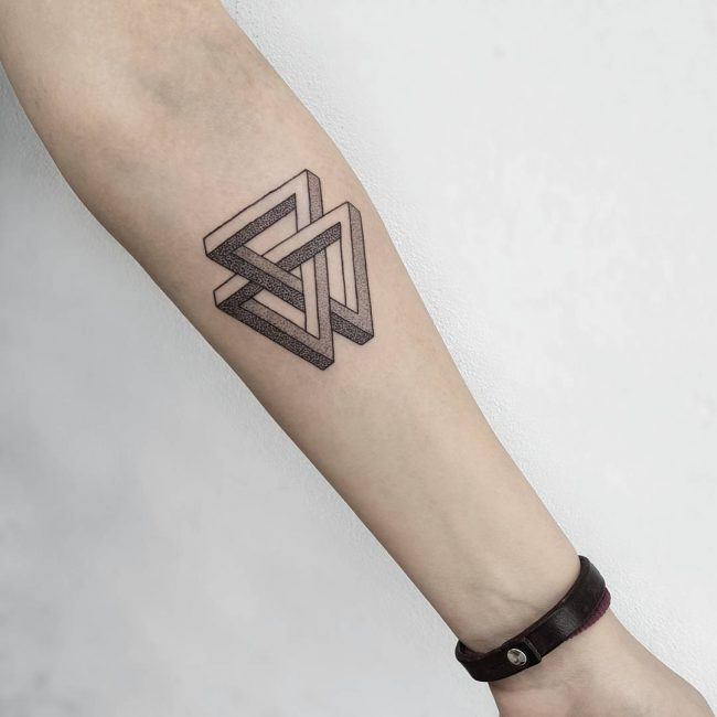 65 Best Triangle Tattoo Designs Meanings Sacred Geometry 2019