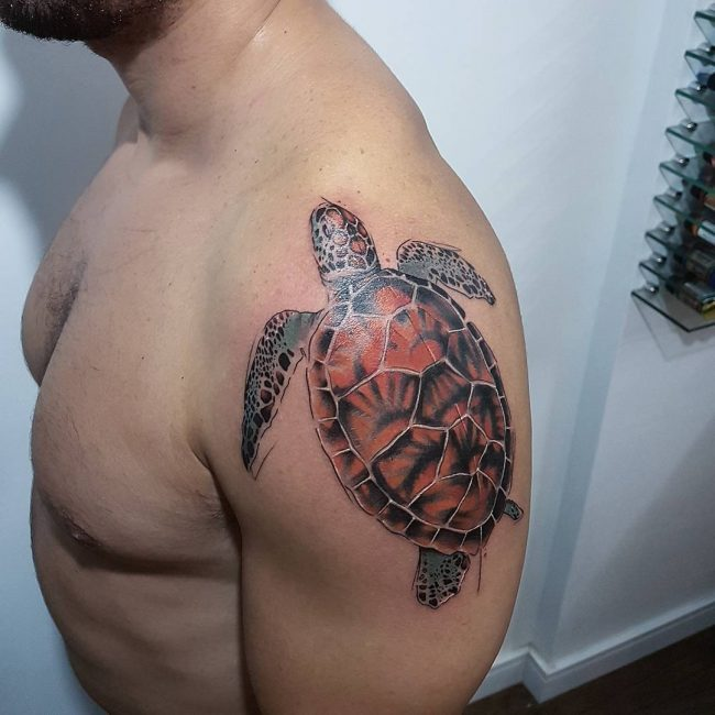 6e546e7b1 85+ Best Sea Turtle Tattoo Designs & Meanings - (2019)