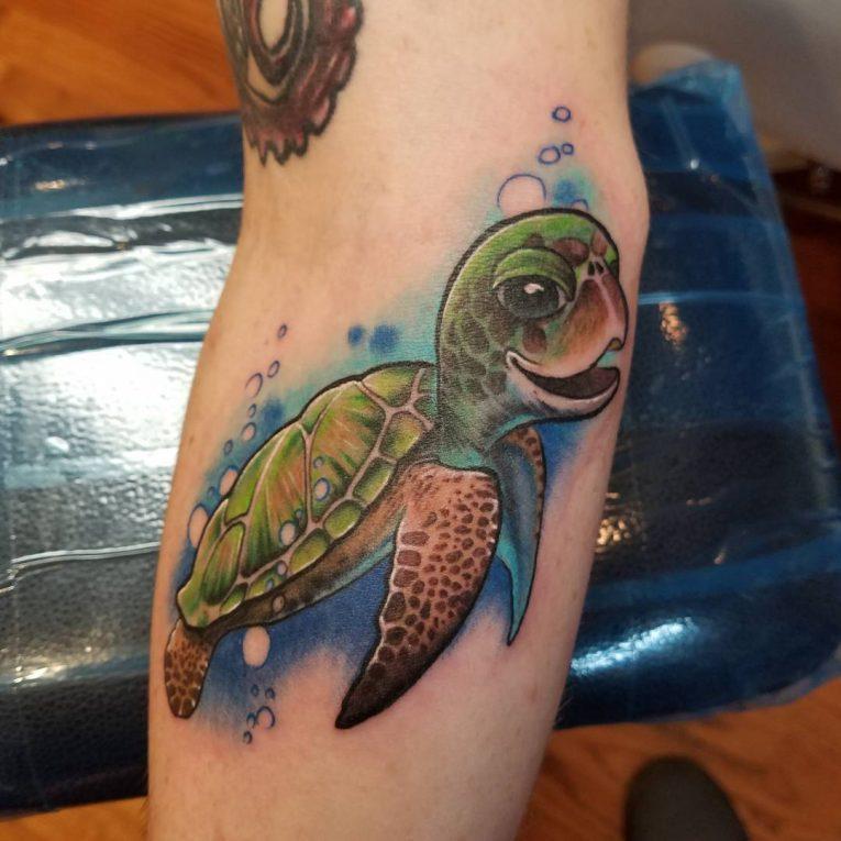 85+ Best Sea Turtle Tattoo Designs & Meanings - (2018)