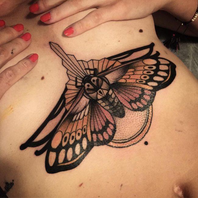 Underboob Tattoo 74