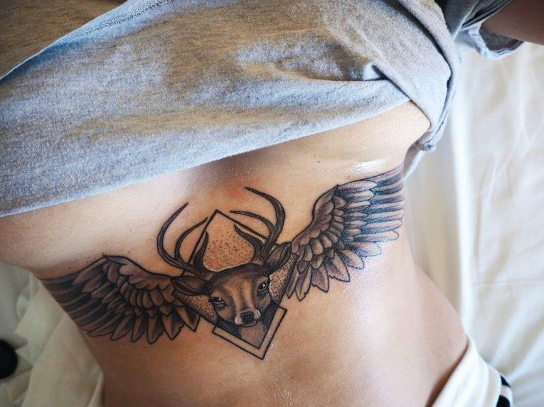 Underboob Tattoo 81