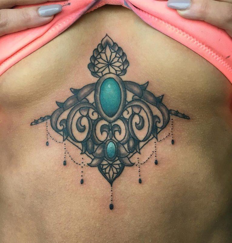 Underboob Tattoo 84