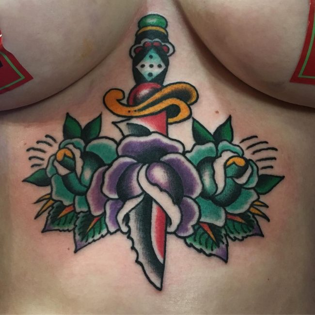 65 Contemporary Underboob Tattoo Ideas