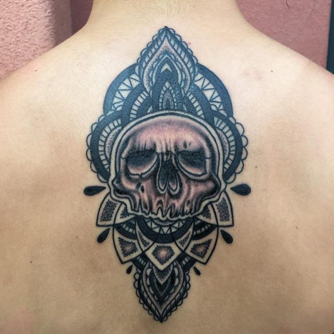 Upper Back Tattoo 41