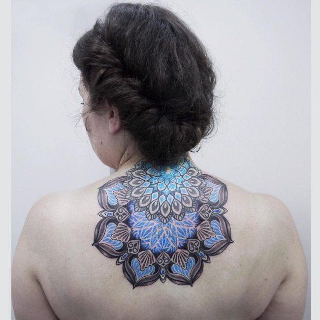 Upper Back Tattoo 43