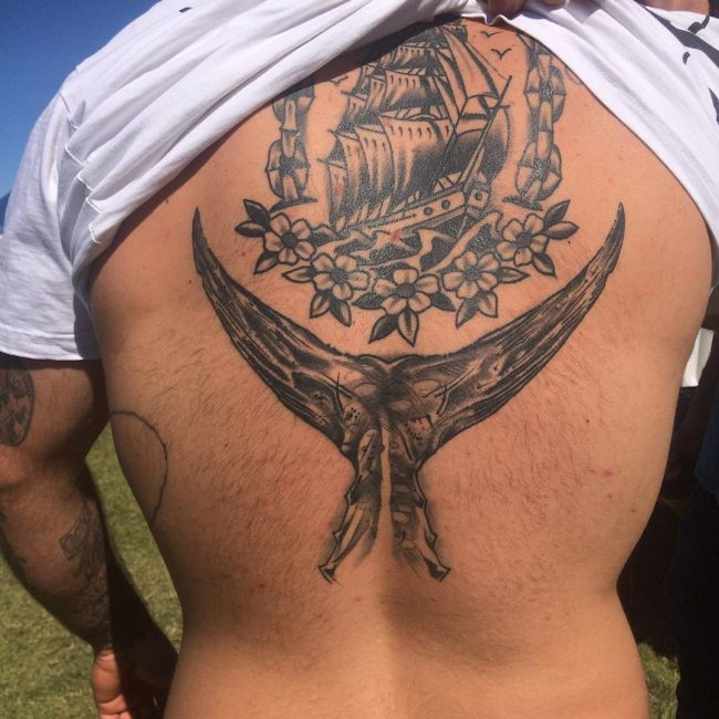 Upper Back Tattoo 45