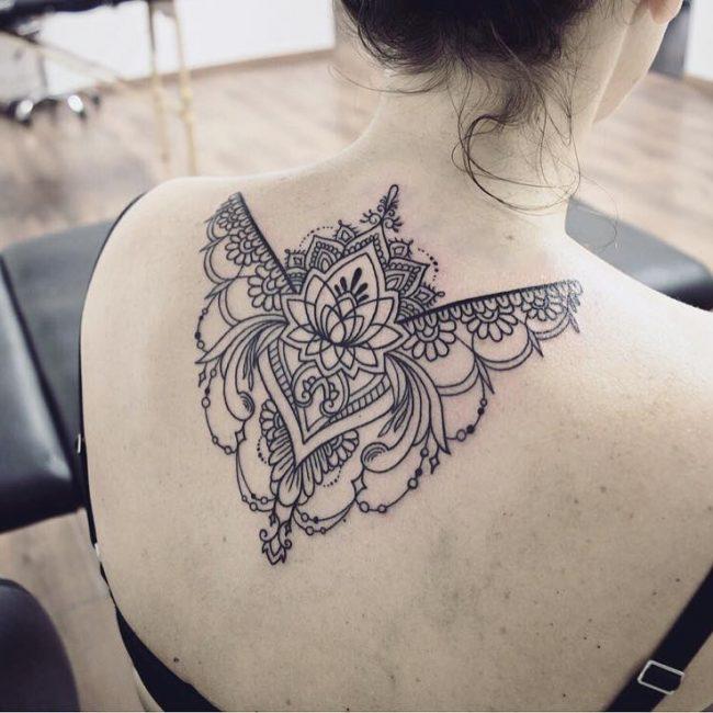 Upper Back Tattoo 46