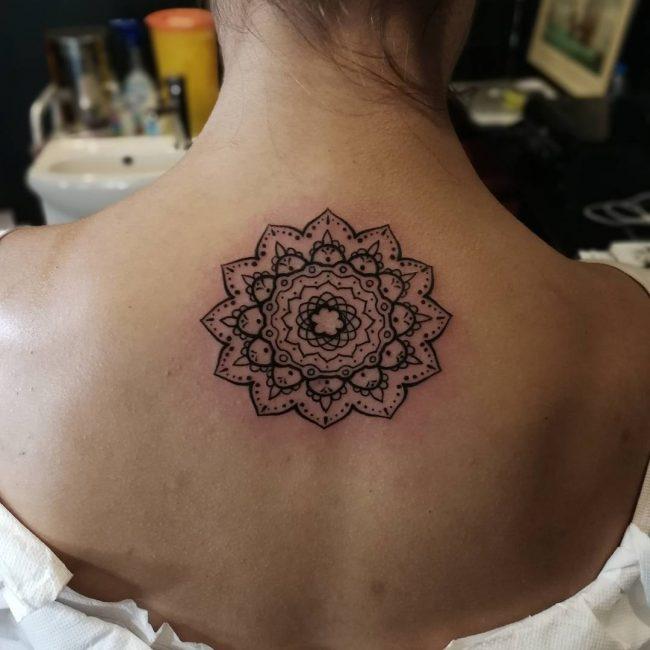 Upper Back Tattoo 47