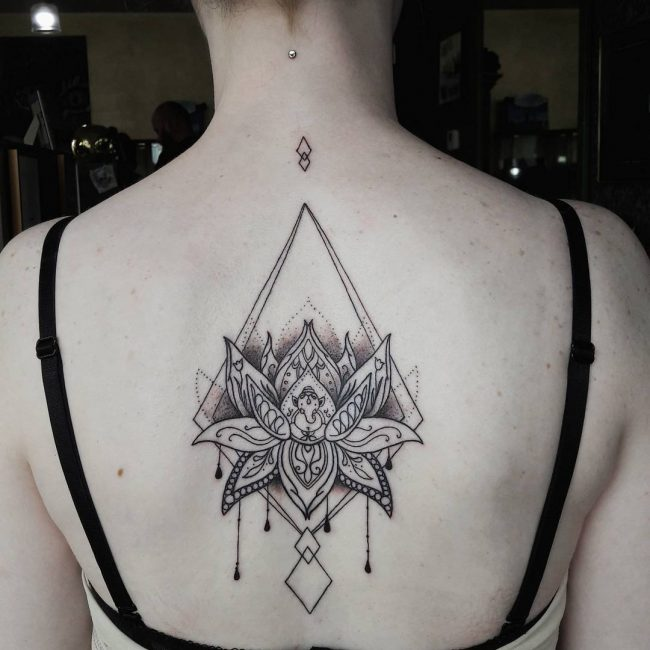 Upper Back Tattoo 48
