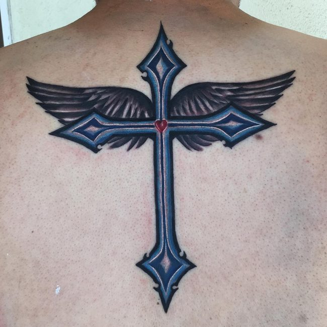 Upper Back Tattoo 49