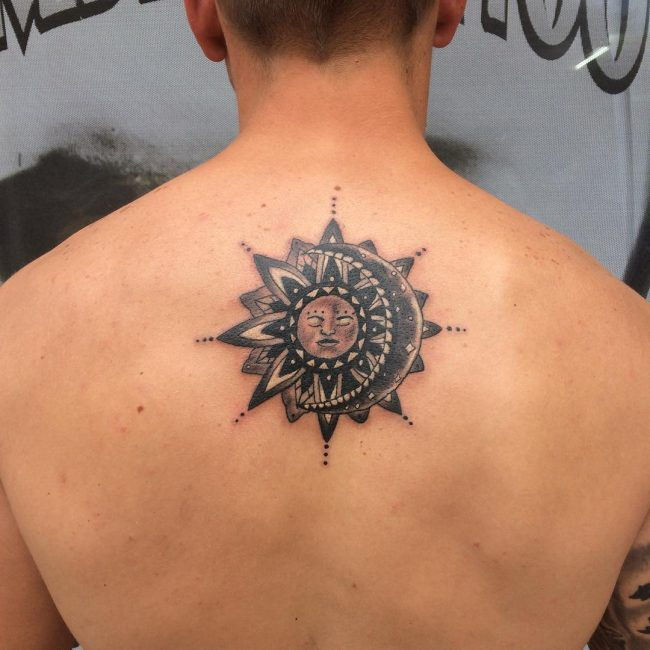 Upper Back Tattoo 50