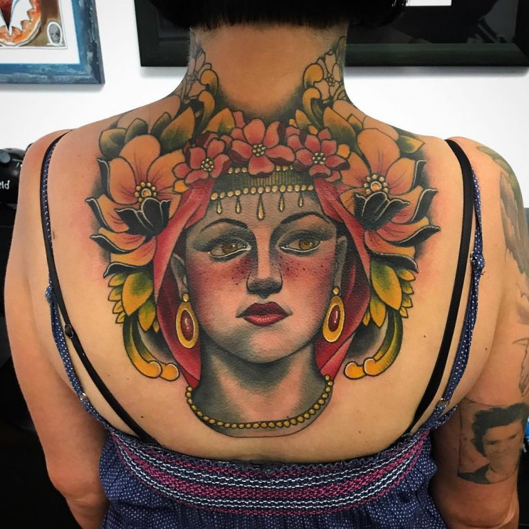 Upper Back Tattoo 52