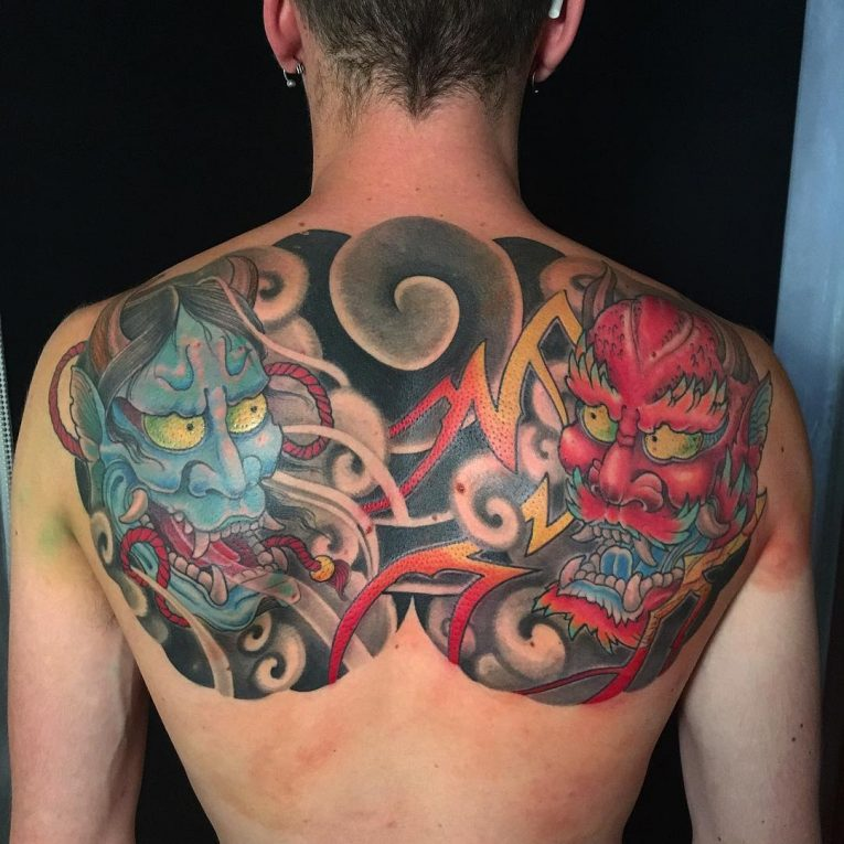 Upper Back Tattoo 53