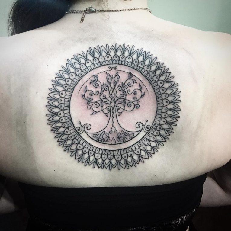 Upper Back Tattoo 54