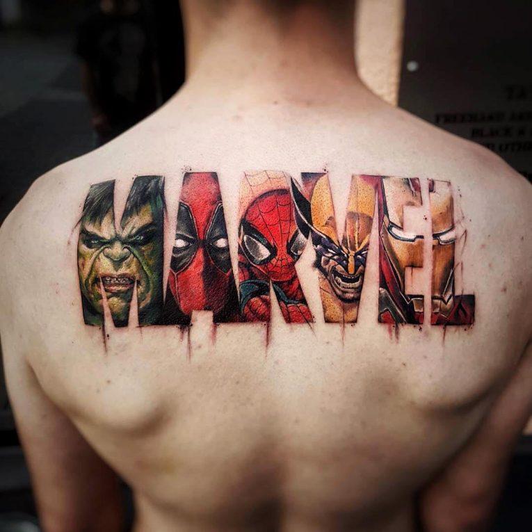 Upper Back Tattoo 57