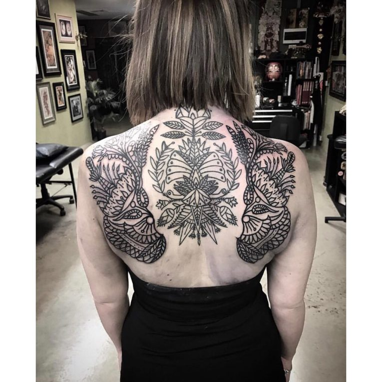 Upper Back Tattoo 58