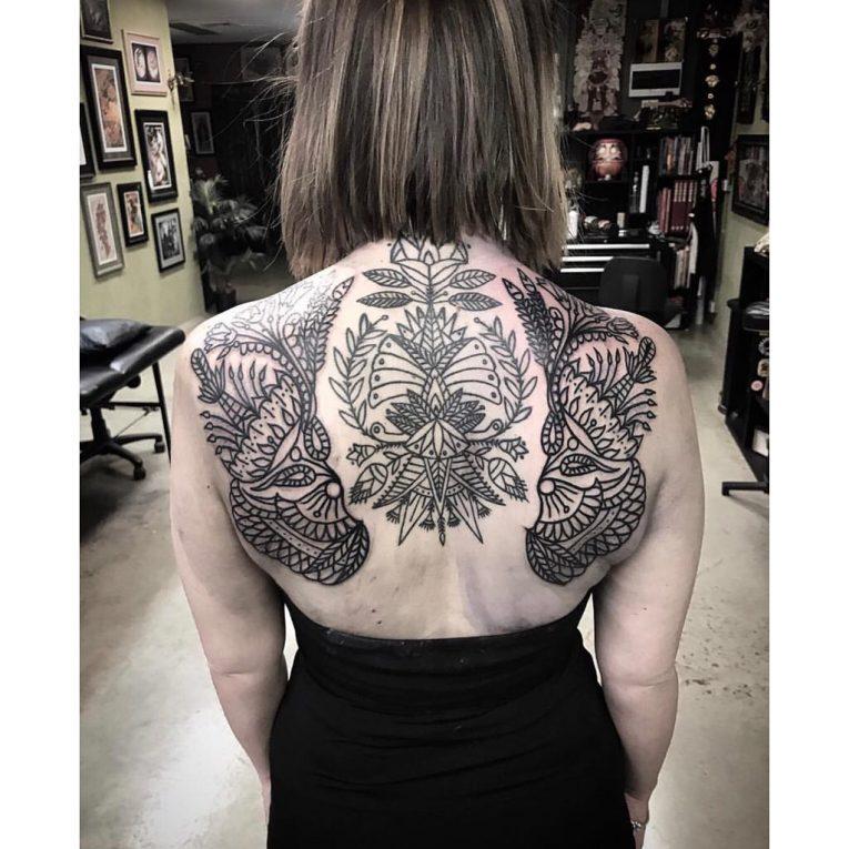Upper Back Tattoo 58