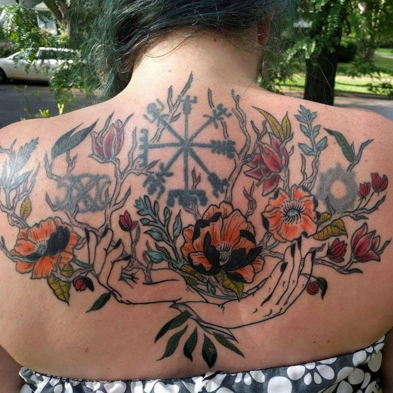 Upper Back Tattoo 59