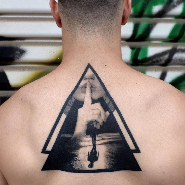 Upper Back Tattoo 62