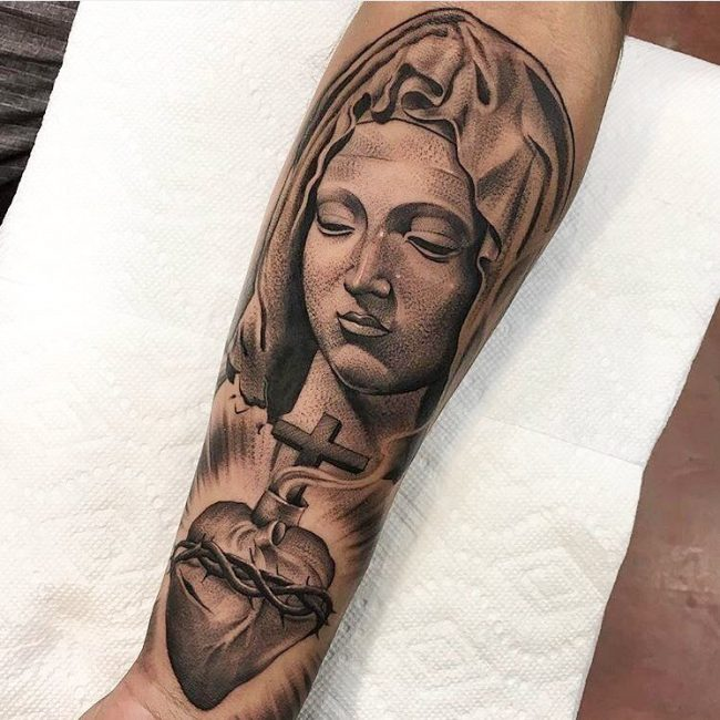 Virgin Mary Tattoo 58