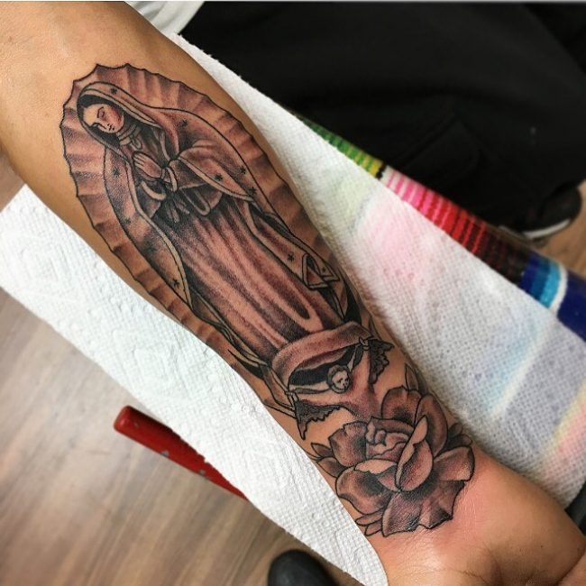 Virgin Mary Tattoo 59