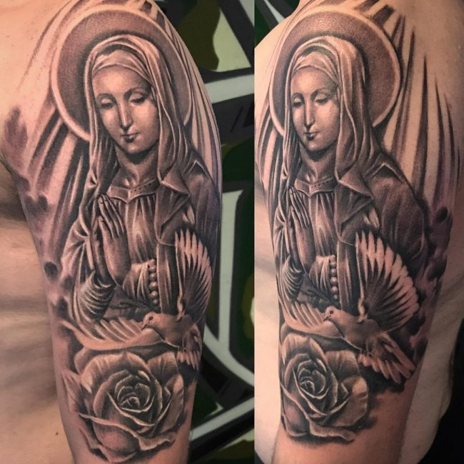 Virgin Mary Tattoo 60