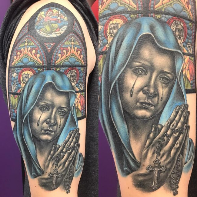 Virgin Mary Tattoo 61