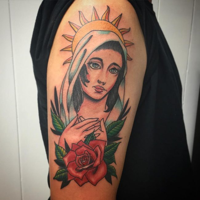 Virgin Mary Tattoo 63