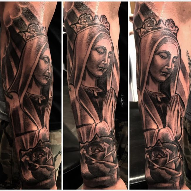 Virgin Mary Tattoo 65