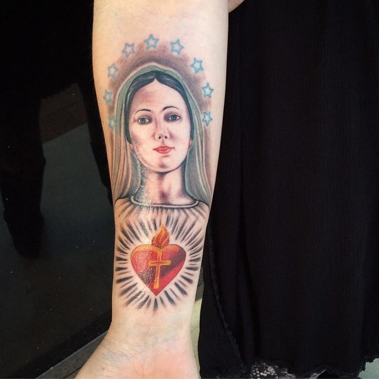 Virgin Mary Tattoo 69
