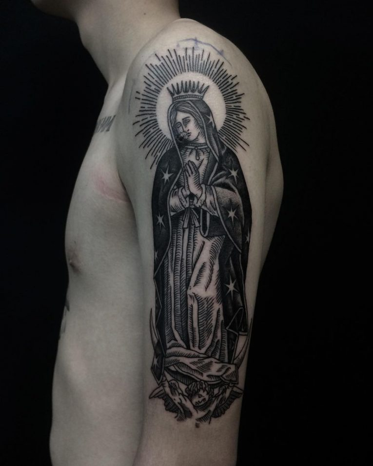 Virgin Mary Tattoo 71
