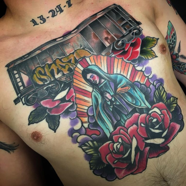 Virgin Mary Tattoo 73