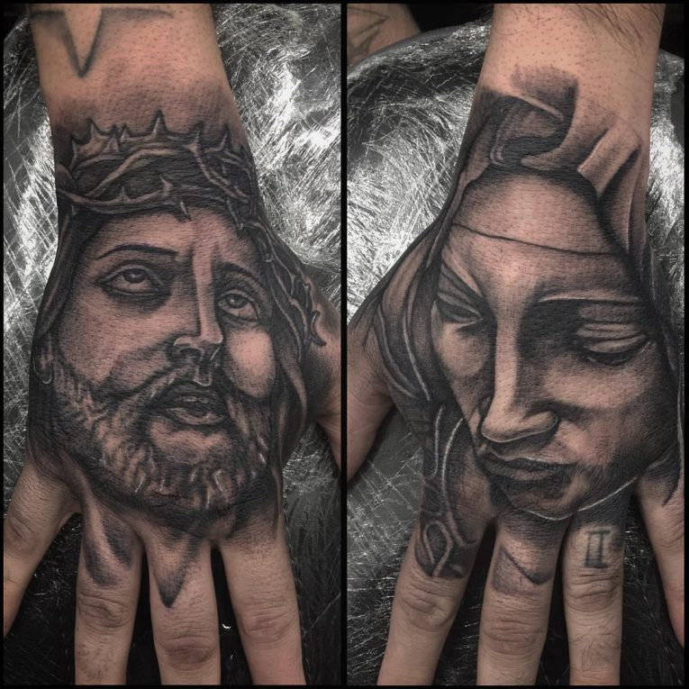 Virgin Mary Tattoo 74