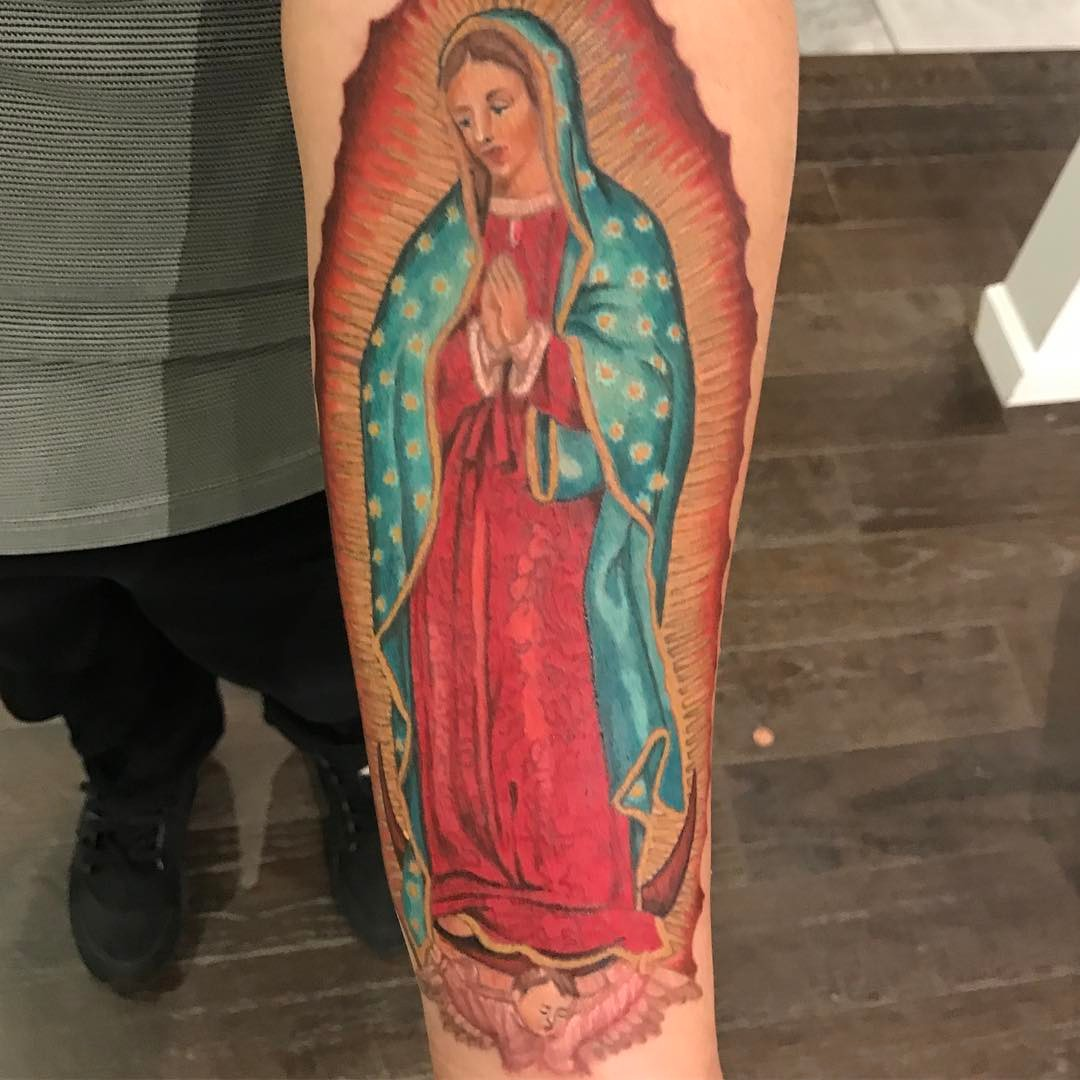 75 best spiritual virgin mary tattoo designs meanings for Are tattoos a sin catholic